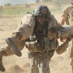 American Soldier Wounded in Afghanistan