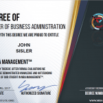 MBA Business Management Certification