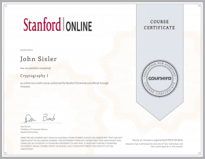 Cryptography Certificate