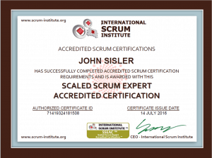 Agile Scaled Scrum Expert Certification