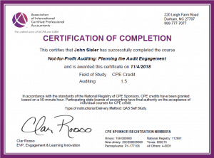 Not-for-Profit Auditing Planning the Audit Engagement