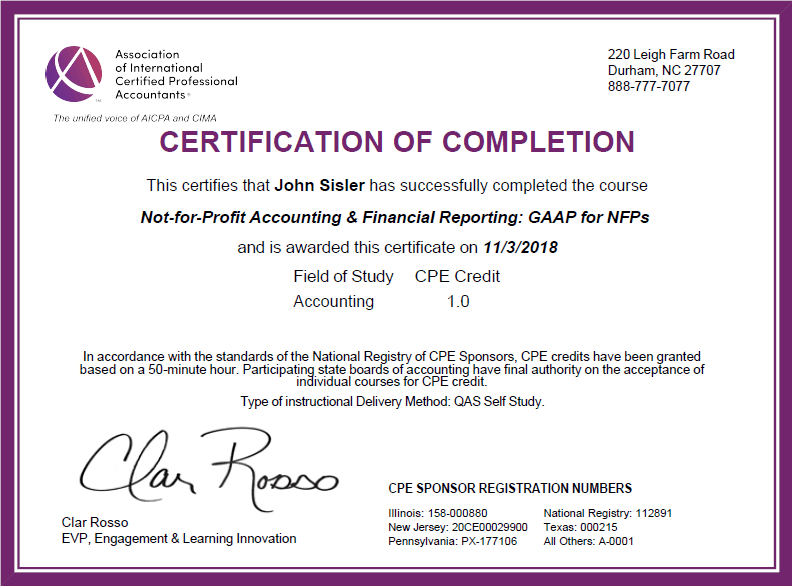 Not-for-Profit Financial Reporting GAAP